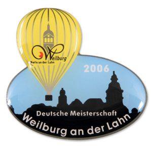 Ballonpin Siebdruck Weilburg