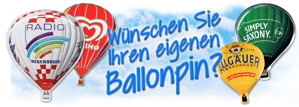 Wünschen Sie Ihren eigenen Ballonpin?