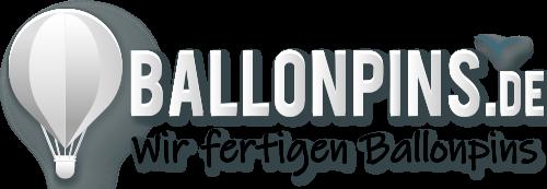 Ballonpins, Fesselballon, Pins geprägt, bedruckt, geätzt